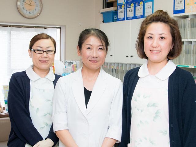 スタッフは全員女性で、女性の患者さんにも通って頂きやすい歯科医院です。