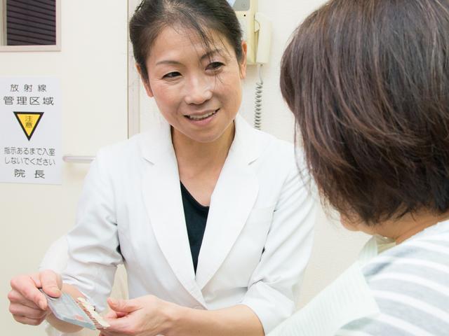 患者さんとしっかりとコミュニケーションを取り、納得感を大事にしています。